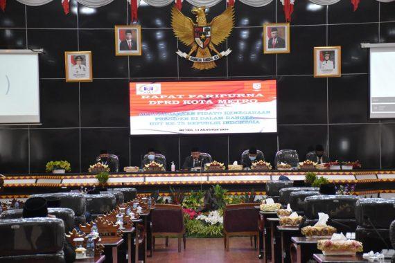 Advertorial: DPRD Kota Metro Gelar Rapat Paripurna Istimewa Mendengarkan Pidato Presiden Republik Indonesia