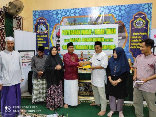 Pemilik Kaveling Ar Ridho Jatiagung Wakafkan 1.000 Meter Persegi untuk Yayasan Anak Yatim dan Duafa Mardotillah