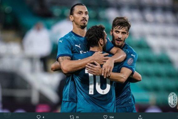 Milan Kalahkan Shamrock Rovers 2-0, Tonali Jalani Debut