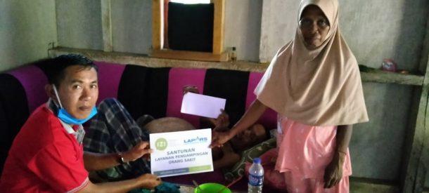 IZI Lampung Bantu Tomo, Duafa Penderita Hepatitis B dan Perut Membuncit