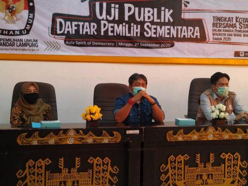 KPU Bandar Lampung Gelar Uji Publik Daftar Pemilih Sementara