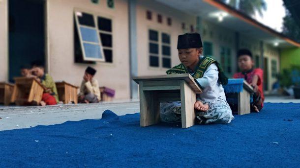 Santri Rumah Alquran Daarul Ihyaa DT Peduli Lampung Tetap Semangat Menghafal di Tengah Pandemi