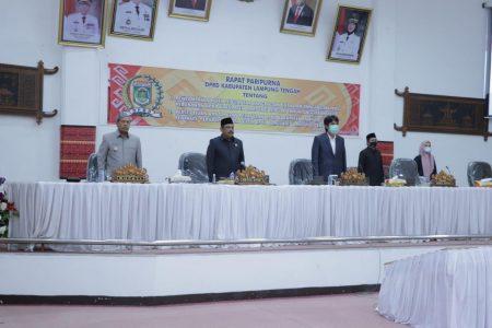 DPRD Lampung Tengah Menggelar Paripurna KUPA dan PPAS Perubahan APBD 2020