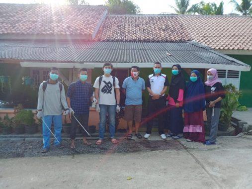 Relawan World Cleanup Day Lampung Utara Lakukan Penyemprotan Disinfektan