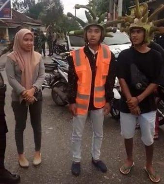 Terjaring Razia Yustisi, Puluhan Pemuda Kota Metro Bacakan Pancasila dan Kenakan Seragam Covid-19