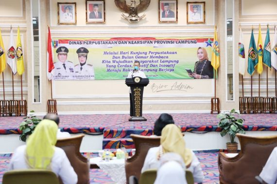 Hari Kunjung Perpustakaan 2020, Bunda Literasi Lampung Riana Arinal Minta Gemar Membaca Ditanamkan Sejak Dini