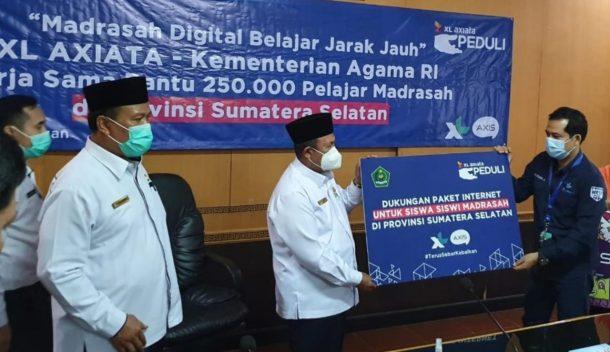 XL Axiata Bagikan 250 Ribu Paket Internet Gratis bagi Siswa Se-Sumatera Selatan