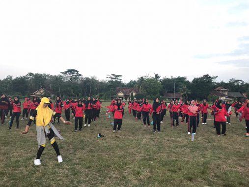 Ratusan Ibu Senam Lampung Berjaya di Lapangan Way Kenanga Tulangbawang Barat
