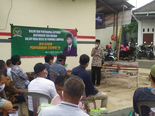 Abdul Hakim Serap Aspirasi Warga Desa Klaten Penengahan Lampung Selatan
