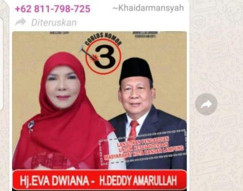 Kepala Bappeda Bandar Lampung Unggah Foto Pasangan Calon Wali Kota-Wakil Wali Kota