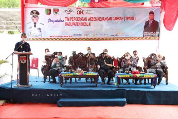 Pengukuhan Tim TPAKD Mesuji, Gubernur Lampung Dorong Mesuji Bangun Pertumbuhan Ekonomi