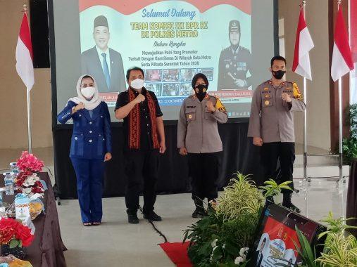 Anggota Komisi III DPR RI Taufik Basari Kunjungan Kerja ke Polres Metro