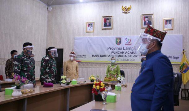 Peringatan Hari Sumpah Pemuda 2020, Pemprov Lampung Ikuti Pidato Presiden Jokowi Via Virtual Zoom