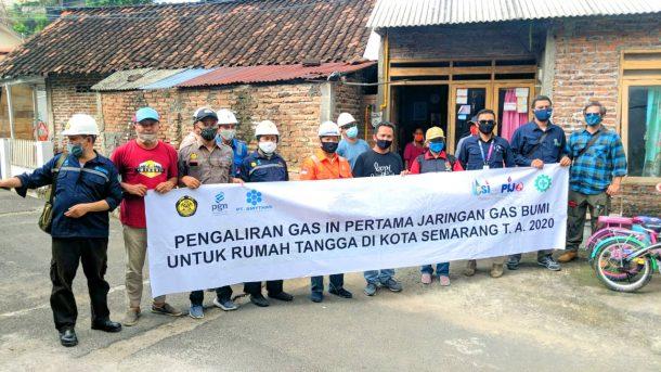 PGN Alirkan Gas Bertahap Ke 6.706 Rumah Tangga di Semarang Barat