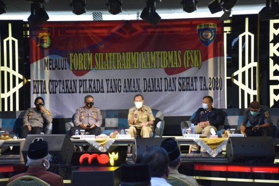Hadiri Forum Silahturahmi Kamtibmas, Wali Kota Metro Pairin Harap Masyarakat Patuhi Protkes di Pilkada Metro 2020
