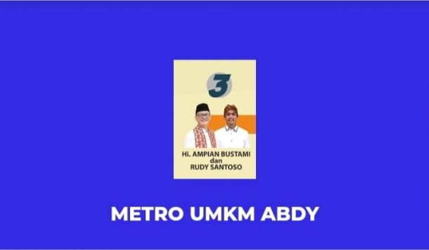 Ampian-Rudy Luncuran Pasar Digital Marketing Bertajuk Metro UMKM Abdy