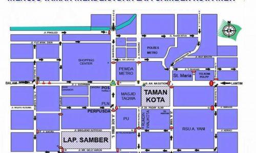 Ini Ruas Jalan Kota Metro Yang Ditutup Jelang Malam Tahun Baru