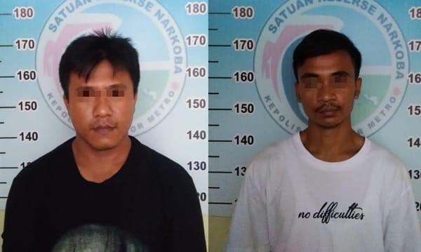 Konsumsi Narkoba Jenis Sabu, Dua Pria Diamankan Satreskoba Polres Metro