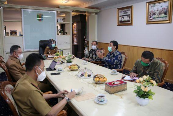 Wagub Lampung Chusnunia Terima Kunjungan Korwil IV KPK dan Satgas Korsup Pencegahan KPK