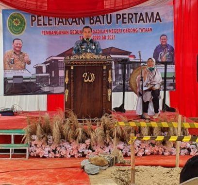 Pembangunan Gedung Pengadilan Negeri Gedongtataan Dimulai