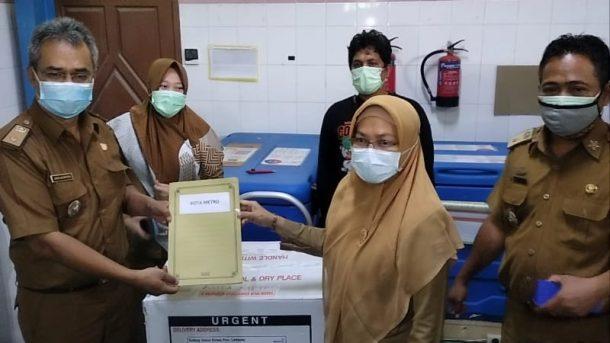 Sebanyak 2.286 Dosis Vaksin Sinovac Tiba di Kota Metro, Bakal Disebar di 20 Tempat Vaksinasi
