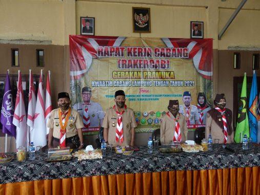 Bupati Lampung Tengah Buka Rakercab Pramuka Tahun 2021