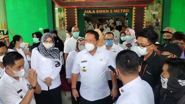 Kunjungi Kota Metro, Gubernur Arinal Siap Fasilitasi Produk Olahan Makanan SMK