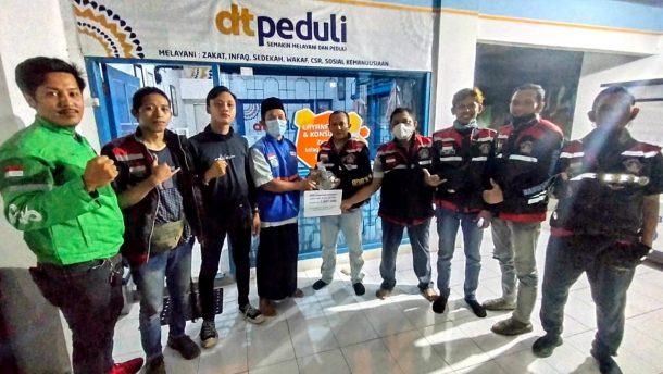 Galang Dana Terkumpul Rp7 Juta, URC Ojol Metro Salurkan untuk Korban Bencana Melalui DT Peduli