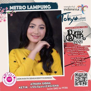 Ayo Dukung Gisha Asal Metro Lampung di Ajang Pesona Batik Nusantara