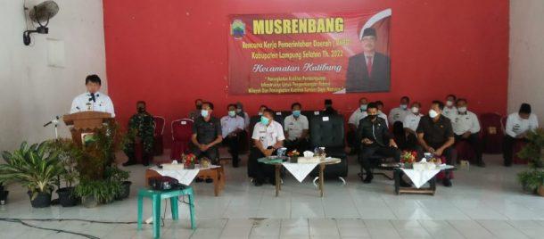 Pemkab Lampung Selatan Gelar Musrenbang di Katibung, Peserta Terbatas Sesuai Protokol Kesehatan di Masa Pandemi Covid-19