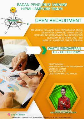 HIPMI Lampung Timur Buka Pendaftaran Anggota Baru, Ini Syaratnya