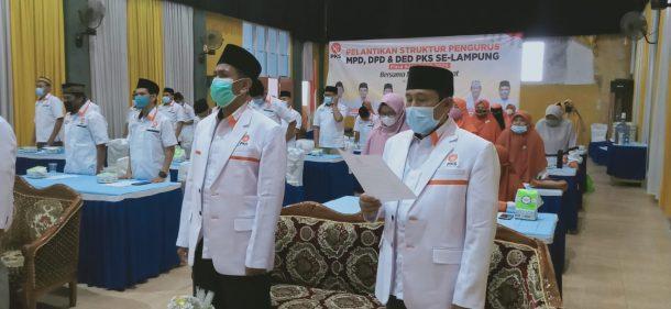 Heni Susilo Kembali Dilantik Sebagai Ketua DPD PKS Tanggamus