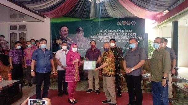 Atasi Konflik Gajah dengan Petani, Ketua Komisi IV DPR dan Dirjen KSDAE Kunker ke Tanggamus