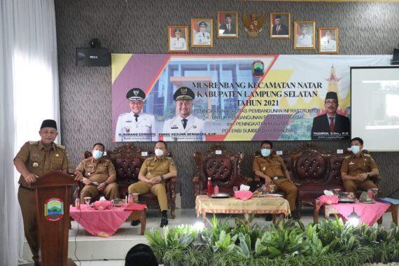 Nanang-Pandu Buka Musrenbang Kecamatan Natar Lampung Selatan