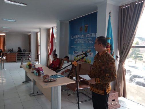 Diskominfotik Apresiasi Kegiatan Uji Kompetensi Wartawan Angkatan XXII PWI Lampung