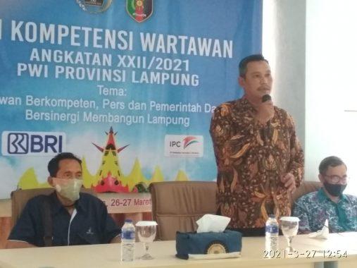 Penutupan UKW PWI Lampung, Wartawan Diingatkan Sajikan Berita Cepat dan Berkualitas di Era Digital