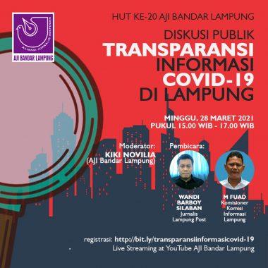 HUT Ke-20, AJI Bandar Lampung Gelar Diskusi Publik Transparansi Informasi Covid-19