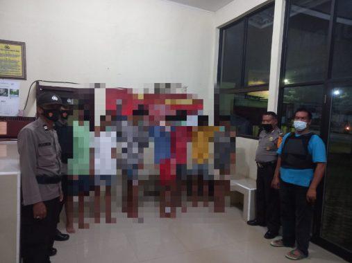 Tim Gabungan Polres Lampung Timur Amankan 7 Remaja Pelaku Curas