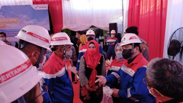 Launching Kapal VLCC Pertamina Pride, Bupati Tanggamus Sambut Kunker Menteri BUMN Erick Thohir di Kotaagung