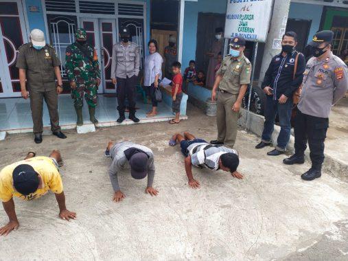 Operasi Yustisi di Pasar Pangkul, Satgas Covid-19 Tanggamus Tindak 23 Pelanggar