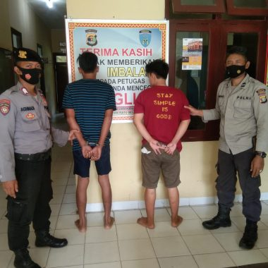 Dua Remaja di Lampung Timur Diciduk Polisi Saat Asyik Pakai Sabu