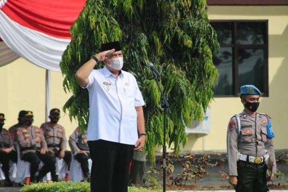 Azwar Hadi Pimpin Apel Gelar Pasukan Operasi Ketupat Lampung Timur 2021