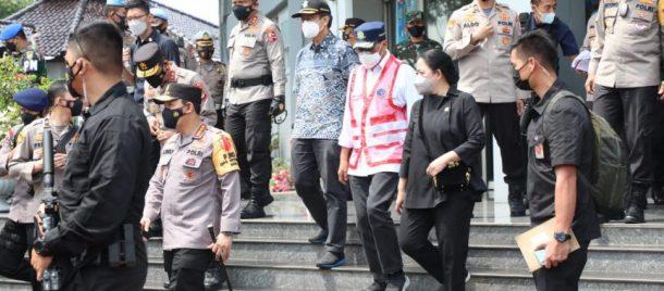 Kunjungan Kerja di Bakauheni, Puan Maharani Apresiasi Soliditas Petugas Pelaksanaan Larangan Mudik