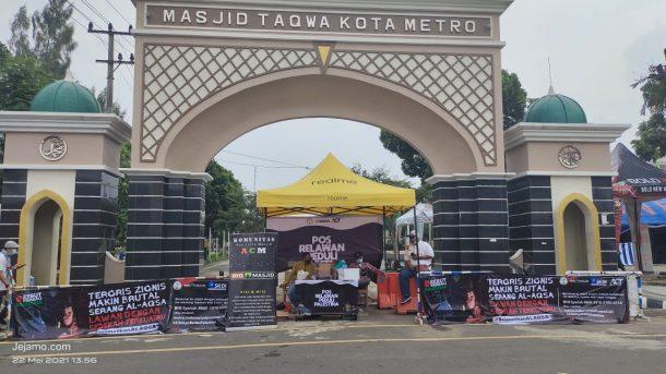 Gabungan Komunitas Peduli Palestina Metro dan Lampung Timur Gelar Aksi Penggalangan Dana