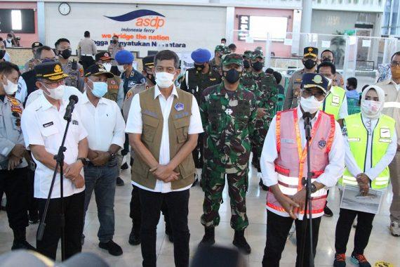 Tinjau Pelabuhan Bakauheni Lampung Selatan, Menhub Minta Tes Rapid Antigen Diperketat