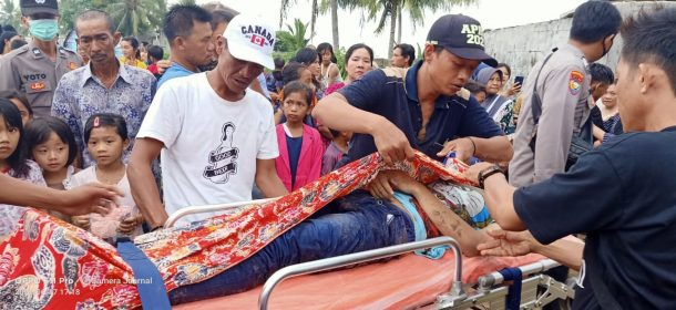 Sejoli Asal Pringsewu Tewas Tenggelam di Pantai Pekon Badak Tanggamus
