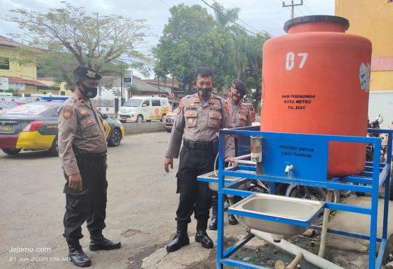 Pemkot Metro Abaikan Kontrol Fasilitas Cuci Tangan, Polisi Ambil Alih