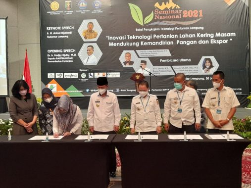 Bupati Tanggamus Teken MoU dengan Bapelitbang Kementerian Pertanian RI