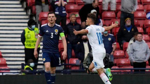 Gol Spektakuler Schick Antar Republik Ceko Kalahkan Skotlandia 0-2