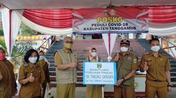 Dewi Handajani Luncurkan Posko Bantuan Pasien Covid-19 di Tanggamus